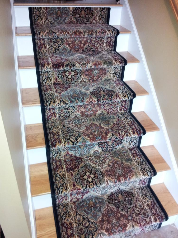 Dynamic Stair Runner Ancient Garden Multi Stair Runner Panel 57008-3233 - 31in Sold By the Foot