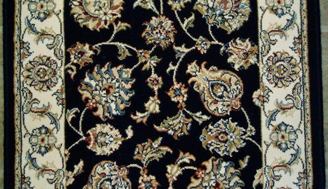 Dynamic Stair Runner Ancient Garden Navy Stair Runner 57365-3464 - 26 inch Sold By the Foot