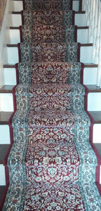 Dynamic Stair Runner Ancient Garden Red Stair Runner 57078-1414 - 26 inch Sold By the Foot