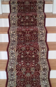 Dynamic Stair Runner Ancient Garden Red Stair Runner  57120-1464 - 26 inch Sold By the Foot
