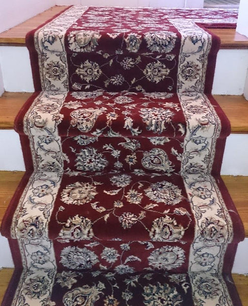 Dynamic Stair Runner Ancient Garden Red Stair Runner 57365-1464 - 31 inch Sold By the Foot