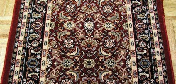Dynamic Stair Runner Brilliant Herati Red Stair Runner 72240-330 - 26 inch  Sold By the Foot