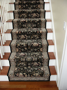 Dynamic Stair Runner Brilliant Wool Black Stair Runner 7211-090 - 26 - Sold By the Foot