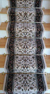 Dynamic Stair Runner Brilliant Wool Ivory Stair Runner 72284-191 - 26Inch - Sold By the Foot