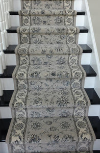 Dynamic Stair Runners Ancient Garden Grey Stair Runner 57365-9666 - 26 inch Sold By the Foot