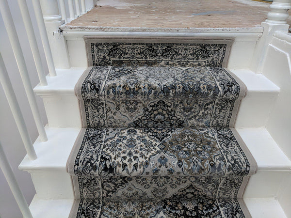 End Cap On Stair Case Using The Grey Panel