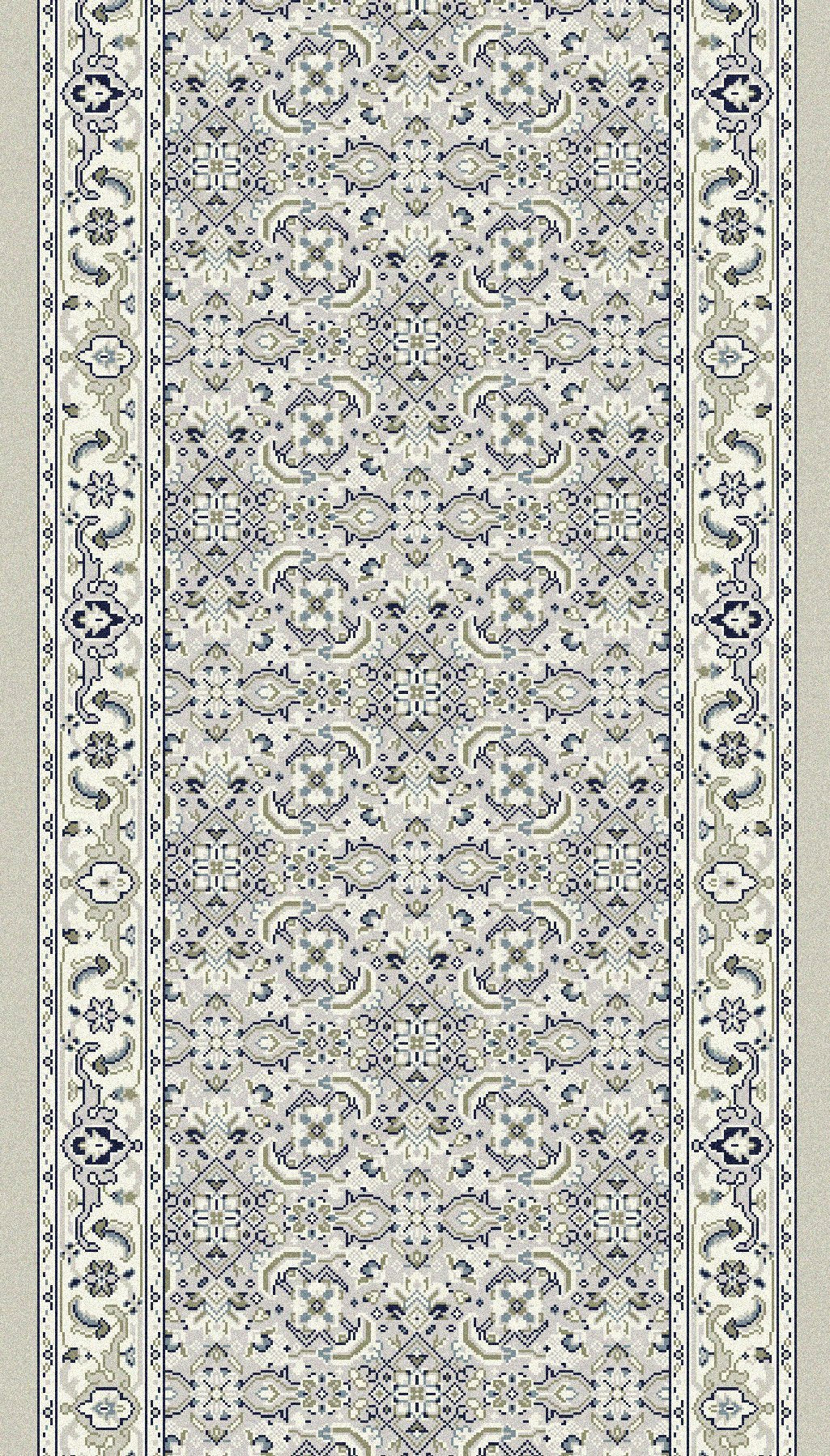 Dynamic Stair Runners Ancient Garden Ivory Stair Runner57011-9666 26in Width Sold By The Foot