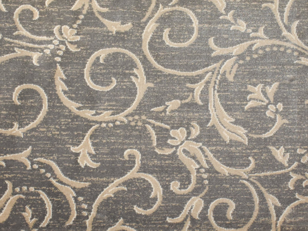 Kane Custom Stair Runner Kane Carpet Julington Imperial Grey Scroll 30Inch Custom Serged Runner Install