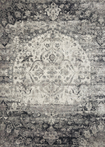 Rectangle loloi Rugs area rugs 2.7 x 4 Anastasia Area Rugs By Loloi Rugs AF-06 Ink-Ivory in 15 Sizes