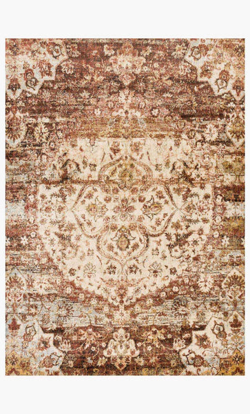 Rectangle loloi Rugs area rugs Anastasia Area Rugs By Loloi Rugs AF-06 Rust-Ivory in 15 Sizes