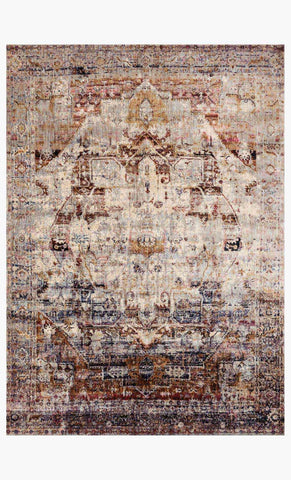 rectangle loloi area rugs 2.7 x 4 Anastasia Area Rugs By Loloi Rugs AF-08 Slate-Multi in 15 Sizes