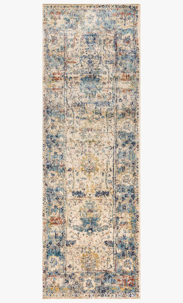 loloi Rugs area rugs 2.7 x 8 Anastasia Area Rugs By Loloi Rugs AF-07 Sand Blue in 15 Sizes
