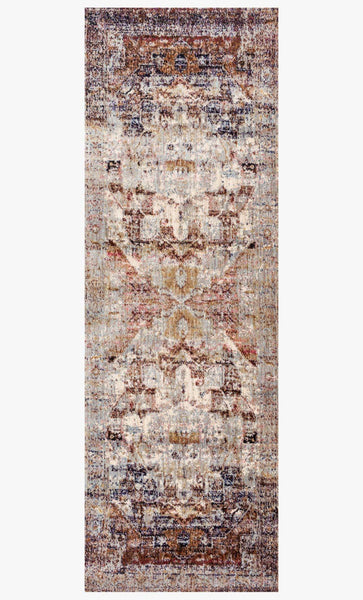 Finished Runner loloi area rugs 2.7x8 Anastasia Area Rugs By Loloi  AF-08 Slate-Multi in 15 Sizes