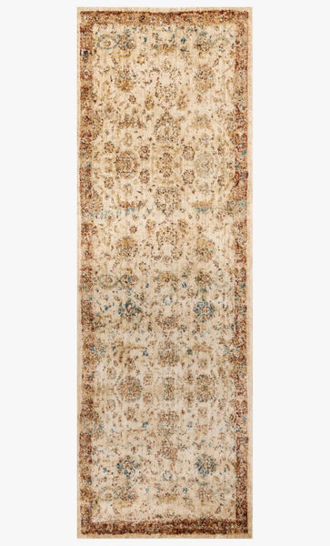 Runners loloi Rugs area rugs Anastasia Area Rugs By Loloi Rugs AF-04 Ivory-Rust 15 Sizes Available