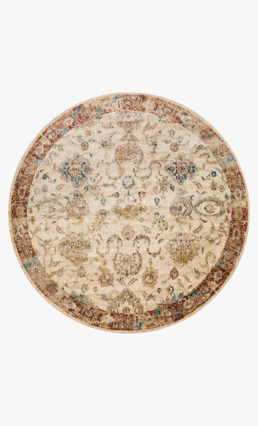 Round loloi Rugs area rugs Anastasia Area Rugs By Loloi Rugs AF-04 Ivory-Rust 15 Sizes Available