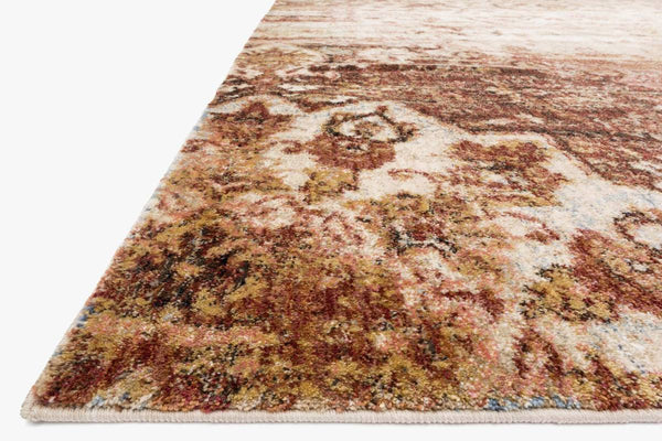 Closeup loloi Rugs area rugs Anastasia Area Rugs By Loloi Rugs AF-06 Rust-Ivory in 15 Sizes