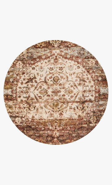Round loloi Rugs area rugs Anastasia Area Rugs By Loloi Rugs AF-06 Rust-Ivory in 15 Sizes