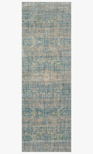 Finished Runner loloi area rugs Anastasia Area Rugs By Loloi Rugs AF-10 Lt Blue-Mist in 15 Sizes