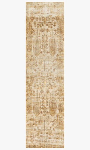 Finished Runner loloi Rugs area rugs Anastasia Area Rugs By Loloi Rugs AF-11Ant Iv-Gold in 15 Sizes