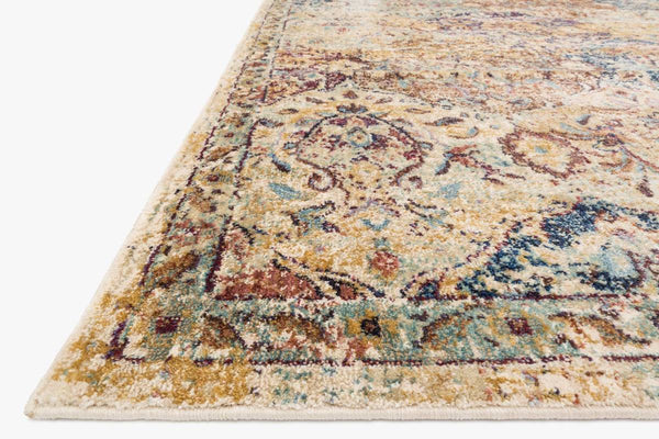 Closeup loloi Rugs area rugs Anastasia Area Rugs By Loloi Rugs AF-12 Ivory-Multi in 15 Sizes