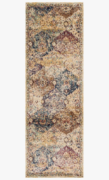 Finished Runner loloi Rugs area rugs Anastasia Area Rugs By Loloi Rugs AF-12 Ivory-Multi in 15 Sizes