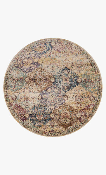 Round loloi Rugs area rugs Anastasia Area Rugs By Loloi Rugs AF-12 Ivory-Multi in 15 Sizes