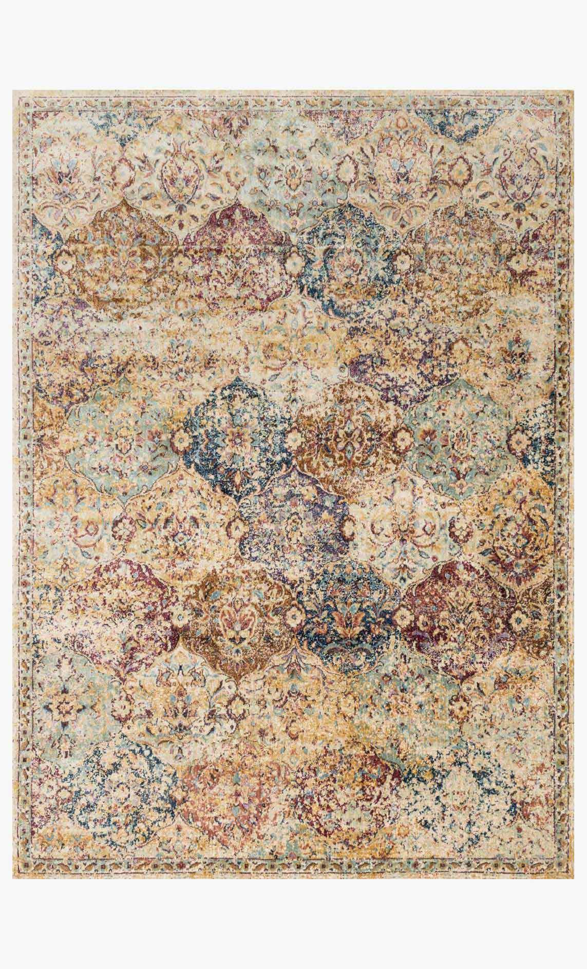 Rectangle loloi Rugs area rugs Anastasia Area Rugs By Loloi Rugs AF-12 Ivory-Multi in 15 Sizes