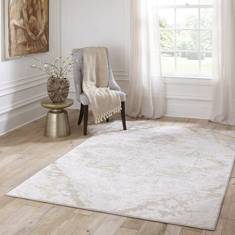 Momeni Area Rugs Amelia Area Rugs AM-03 Beige Poly Blend Power Loomed in Turkey