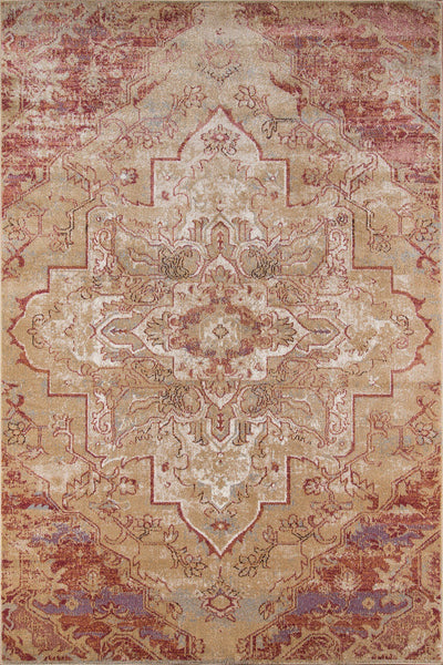 Momeni Area Rugs Amelia Area Rugs AM-03 Rose Poly Blend Power Loomed in Turkey