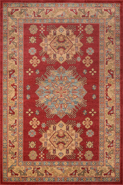 Momeni Area Rugs Ghazni Area Rugs GZ-03 Red Kazak Poly Turkey