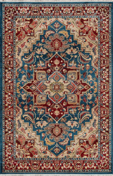 Momeni Area Rugs Lenox Blue Area Rugs LE-01 100% Poly Product of Turkey