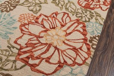 Momeni Area Rugs Tangier Area Rugs Tan-11 Beige 100% Wool HandHooked From India