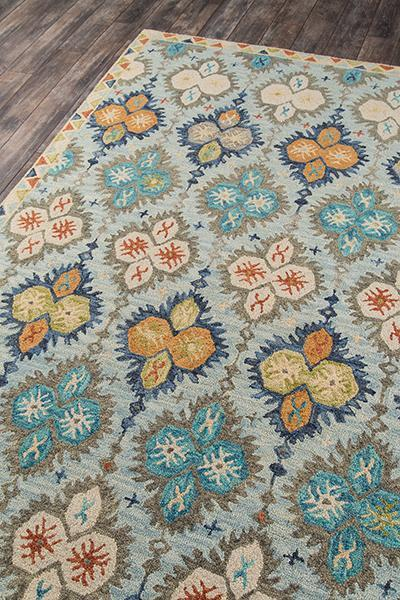 Momeni Area Rugs Tangier Area Rugs Tan-17 Blue 100% Wool HandHooked From India