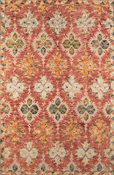 Momeni Area Rugs Tangier Area Rugs Tan-17 Red 100% Wool HandHooked From India