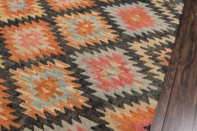 Momeni Area Rugs Tangier Area Rugs Tan-19 Black 100% Wool HandHooked From India