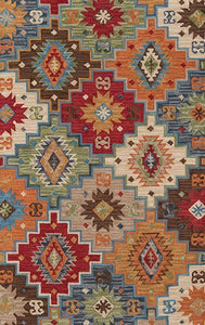 Momeni Area Rugs Tangier Area Rugs Tan-23 Multi 100% Wool HandHooked From India