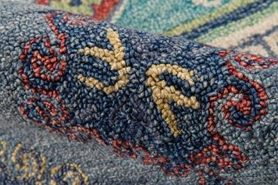 Momeni Area Rugs Tangier Area Rugs Tan-32 Blue100% Wool HandHooked From India