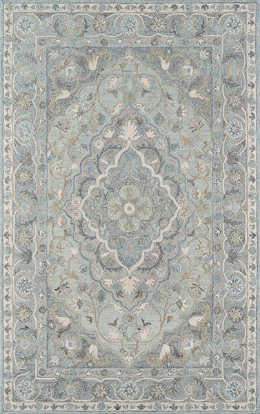 Momeni Area Rugs Tangier Area Rugs Tan-33 Blue100% Wool HandHooked From India