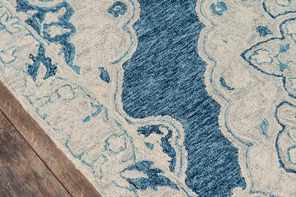 Momeni Area Rugs Tangier Area Rugs Tan-36 Blue100% Wool HandHooked From India