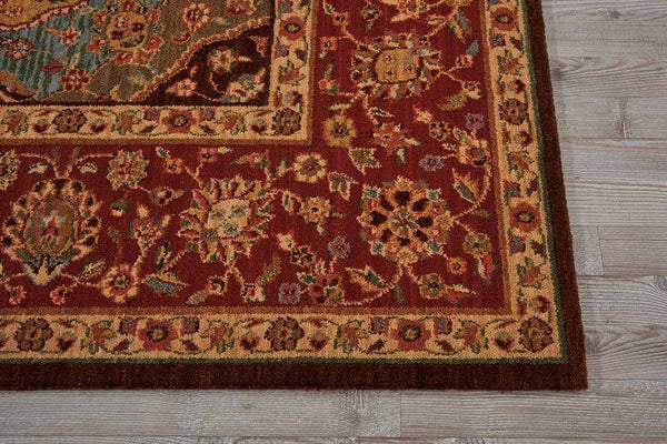 Nourison Area Rugs Living Treasures Area Rugs LI-03 Multi 100% Wool in 11 Sizes