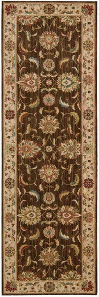 Nourison Area Rugs Living Treasures Area Rugs LI-04 Brown 100% Wool in 11 Sizes