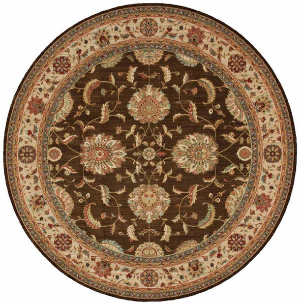 Living Treasures Area Rugs LI-04 Brown 100% Wool 11 Sizes By Nourison
