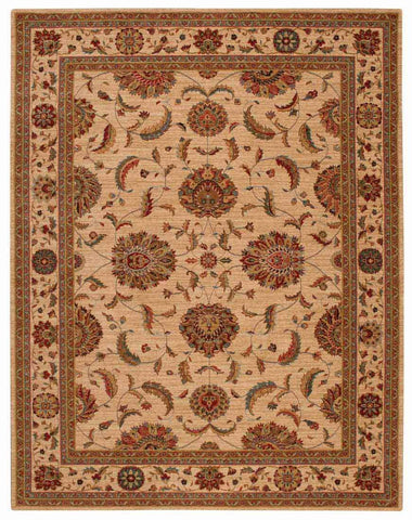 Nourison Area Rugs Living Treasures Area Rugs LI-04 Ivory 100% Wool in 11 Sizes