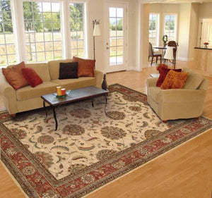 Living Treasures Area Rugs LI-04 Ivory 100% Wool 11 Sizes By Nourison