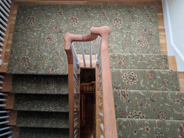 Nourison Custom Stair Runner Sultana Emerald SU-01 Custom Stair Runner Cut To Fit Call For Quote