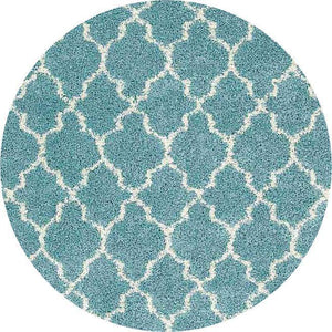 Rounds Nourison Rugs Shags Shag Rugs Amore Collection By Nourison Amor2 Aqua Unique Shapes and Sizes