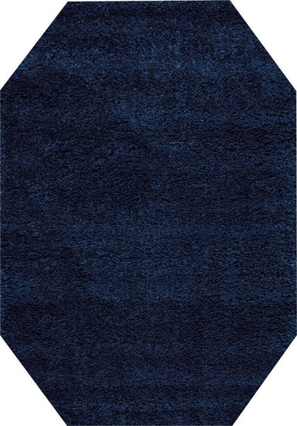 EOCT Nourison Shags Shag Rugs Amore Collection By Nourison Amor1 Blue Unique Shapes and Sizes