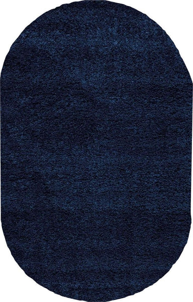 OVAL Nourison Shags Shag Rugs Amore Collection By Nourison Amor1 Blue Unique Shapes and Sizes
