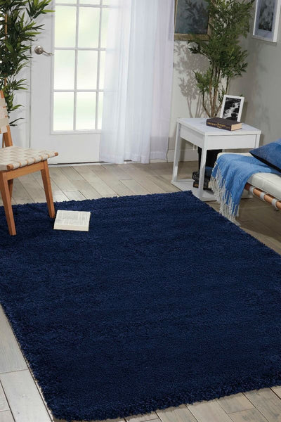 Room Scene Nourison Shags Shag Rugs Amore Collection By Nourison Amor1 Blue Unique Shapes and Sizes