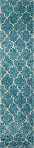 Runners Nourison Shags Shag Rugs Amore Collection By Nourison Amor2 Aqua Unique Shapes and Sizes